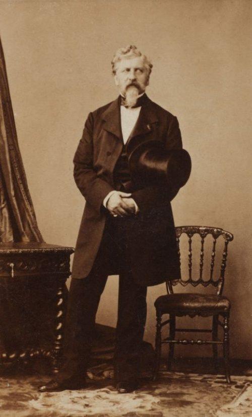Жорж Шарль Дантес, убивший на дуэли Александра Сергеевича Пушкина, 1860
