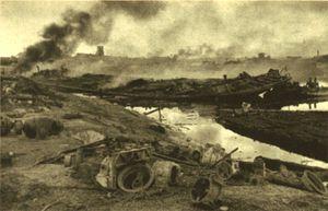Немецкая бомбандировка затона