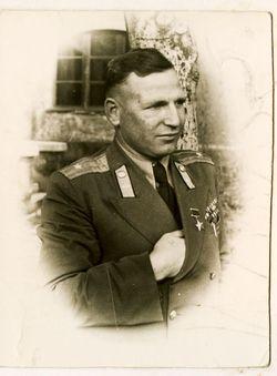 Майор Цыплухин .Фото 1950-1951 г.
