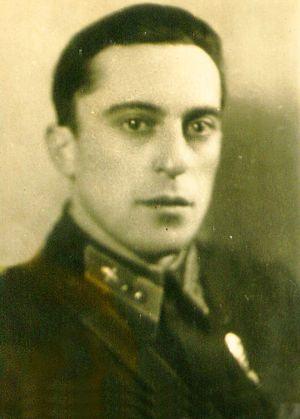 л-т Гринфельд. Фото 1942 г. Примерно в этот переод он отбывал наказание в штрафной эскадрилье.