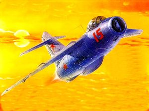 Реактивный истребитель Ла-15. На таком к-н Гринфельд отправился в свой последний полет.