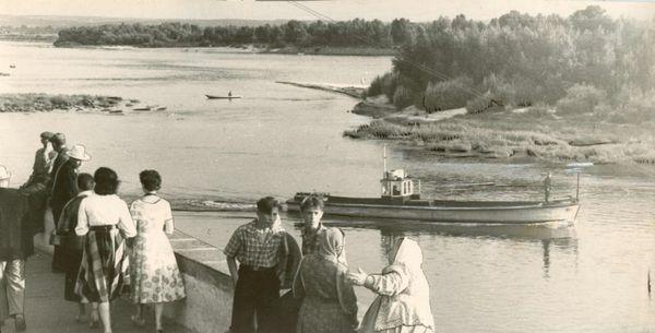 Таким было русло Днепра у скалы в конце 40, начале 50 годов