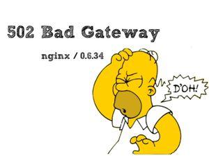 502 Bad Gateway ошибка на стороне сервера
