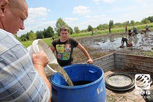 Спасение мальков на Кременчугском водохранилище