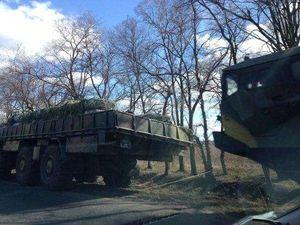 Десятки военных машин на дорогах Полтавщины