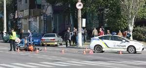 Полицейские столкнулись с мотоциклом Honda в Кременчуге ВИДЕО
