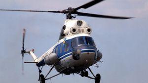 Упал вертолет Ми-2 в Кременчуге