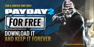 Payday 2 - бесплатная раздача 5 миллионов копий игры