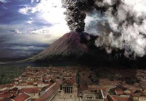 Извержение Везувия в Италии 2017