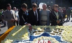 В Кременчуге устроили «Цветочный парад»