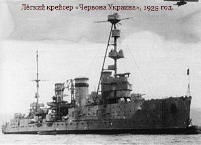 Лёгкий крейсер Червона Украина, 1935 год.