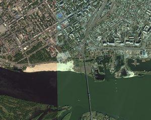 Новые спутниковые снимки Кременчуга на Яндекс.Картах