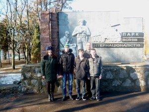 Участь в проходженні колони до пам'ятника Воїнам - інтернаціоналістам