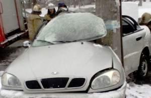 В Кременчуге «Daewoo Lanos» врезался в столб