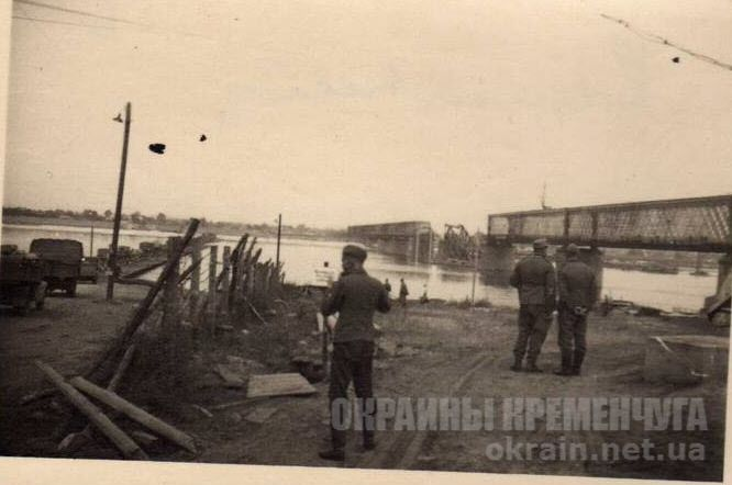 Солдаты вермахта возле переправы через Днепр - фото №1750
