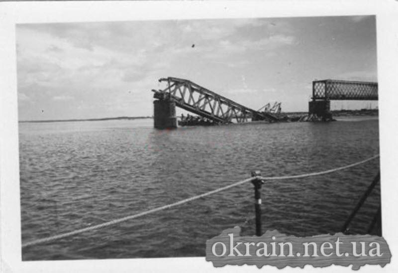 Разрушенный Крюковский мост в Кременчуге - фото 577