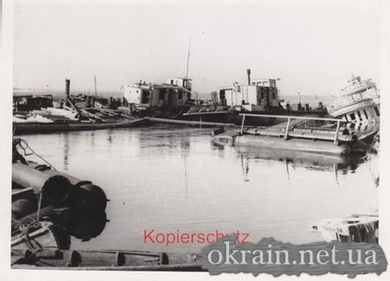 Разбитые корабли в Кременчуге 1941 год - фото 599