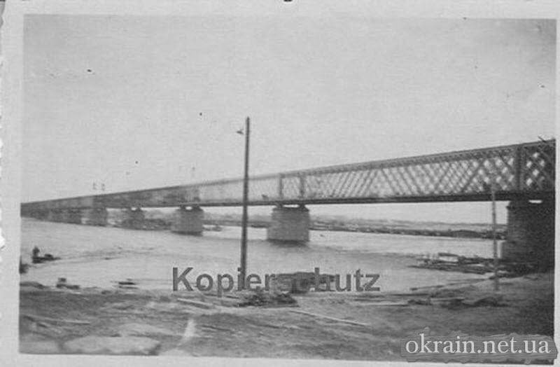 Восстановленный железнодорожный мост в Кременчуге - фото 724