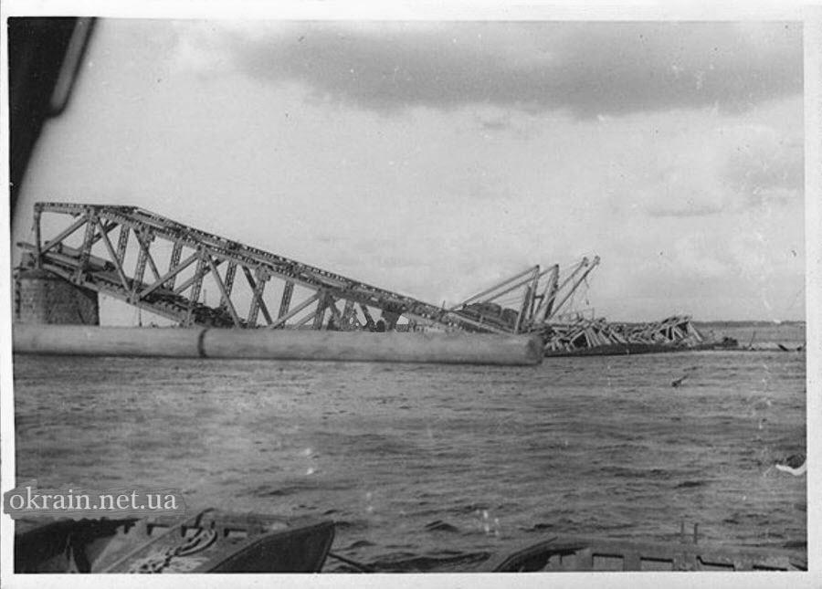 Разрушенный Крюковский мост в Кременчуге - фото 825