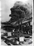 Сгоревшие портовые строения на Днепре, Кременчуг - фото 828