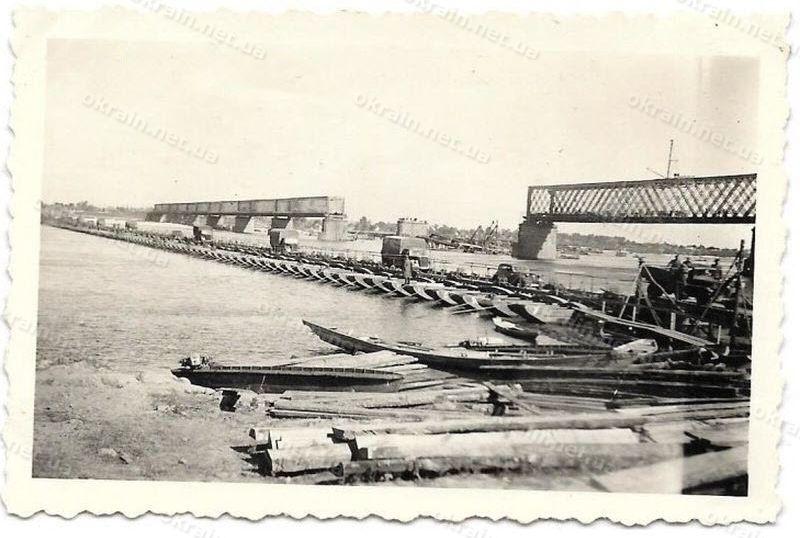 Переправа и Крюковский мост 1941 год - фото 1626