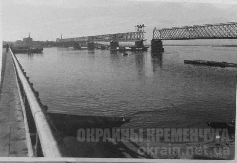 Восстановление моста через Днепр в Кременчуге 1941 год -  фото № 1683