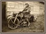 Немецкий солдат на мотоцикле KS 750. Кременчуг 1941 год. - фото 1136