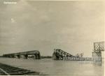 Взорванный Крюковский мост, осень 1941 года - фото №1698