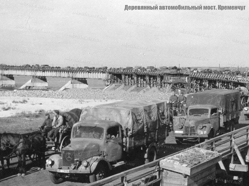 Автомобили на деревянном мосту - фото 1592