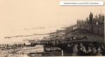 Колонна военнопленных солдат на переправе. Кременчуг - фото 1291