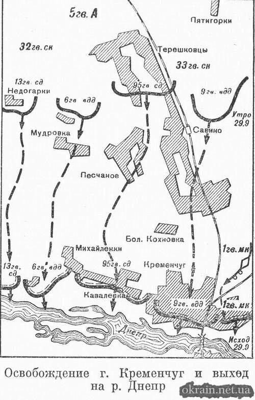 Освобождение Кременчуга и выход на реку Днепр - карта 117