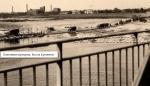 Понтонная переправа. Вид с моста. Кременчуг.
