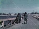 Охрана переправы солдатами вермахта 1943 год - фото №1751