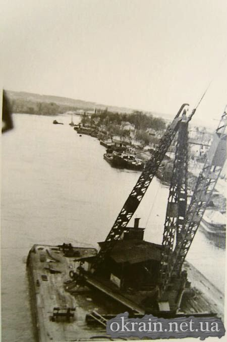 Вид с Крюковского моста во время ремонта 1941 год - фото 475