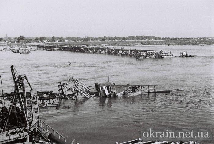 Немецкое фото с опоры Кременчугского моста 1941 год - фото 517