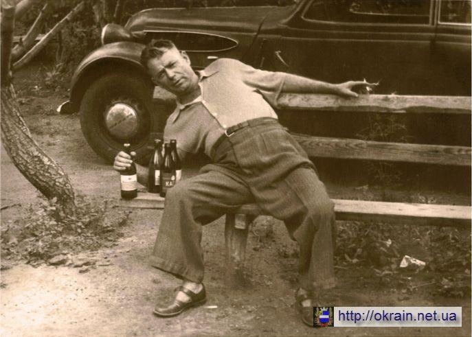Шуточная фотография дяди Миши из Крюкова. 15 июня 1960 года.- фото 454