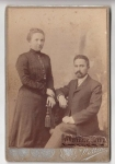 Фотография семейной пары сделанная фотографом Я.Витлин в Кременчуге