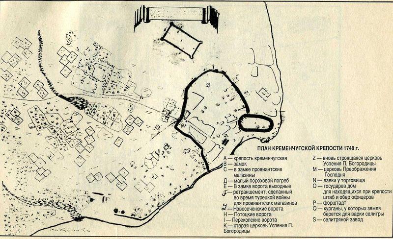 План Кременчугской крепости 1748 год. - карта 177