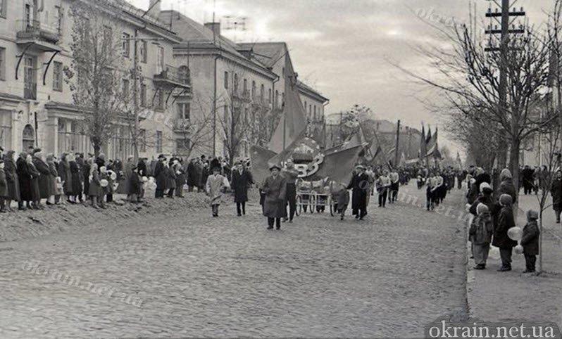 Демонстрация в Крюкове (район моста) 1 мая 1961 года