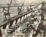 Вид с портального крана на здание ГЭС - апрель 1959 год - фото 660