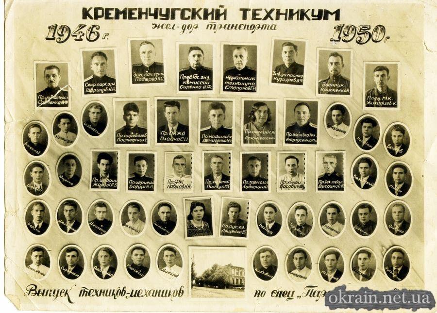 Выпуск техников-механиков по специальности «Паровозное хозяйство» 1946г-1950г - фото 356