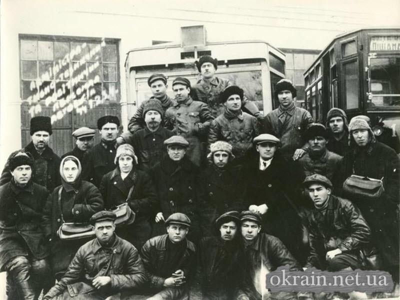 Административно-технический и рабочий состав Кременчугской автобазы. 1 февраля 1951 года - фото 407