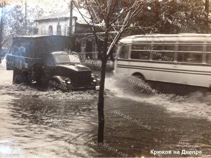Улица К.Либкнехта в Крюкове после ливня - фото 1634