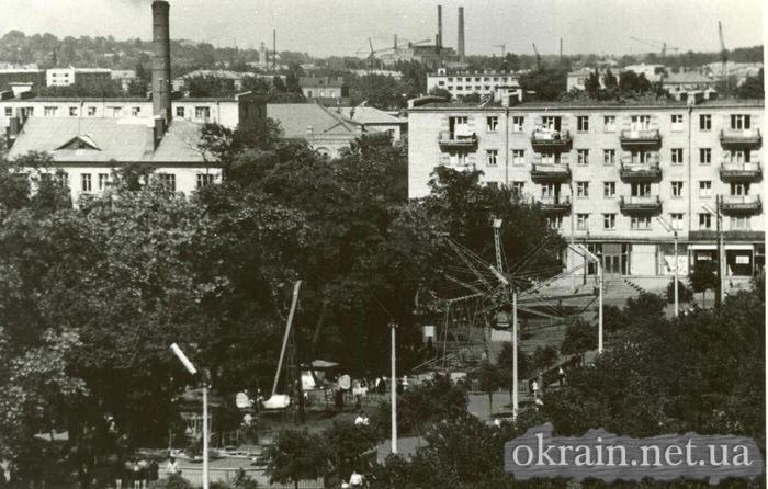 Вид с высоты - сквер пионеров в Кременчуге