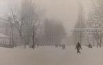 Перекресток улиц Приходько и Александрийской в Крюкове зимой - фото №1704