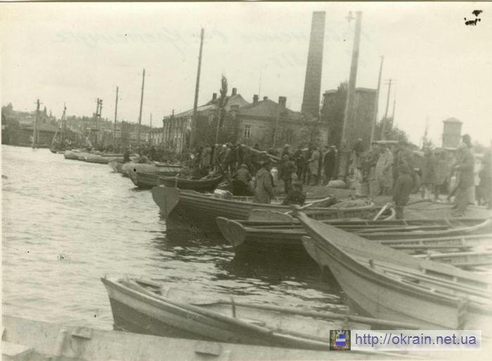 Наводнение 1931 года. Набережная. Кременчуг. - фото 345