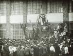 Митинг приуроченный к открытию суконной фабрики в Кременчуге. 1929 год. - фото 339