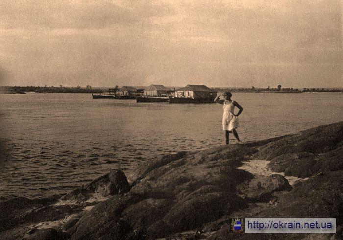 Фото Днепра со скалы Реестр в Кременчуге. 1938 год - фото 349