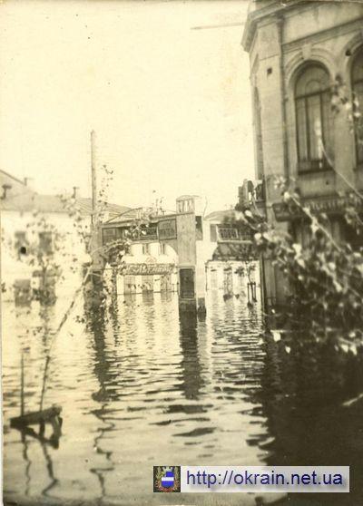 Район кинотеатра «Октябрь» во время наводнения в Кременчуге 1931 года - фото 401