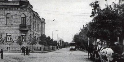 Киевская улица и Государственный банк Кременчуг — открытка № 62